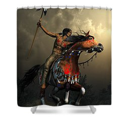 Warriors Of The Plains Shower Curtain