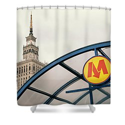 Shower Curtain featuring the photograph Warsaw by Chevy Fleet