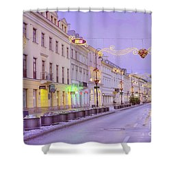 Shower Curtain featuring the photograph Warsaw by Juli Scalzi