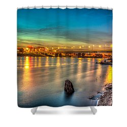 Warsaw Reflected By Vistula River Shower Curtain