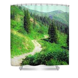 Wasatch Mountain Highway Shower Curtain