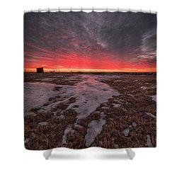 Wascana Dawn Shower Curtain by Ian McGregor