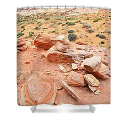Shower Curtain featuring the photograph Wash 4 In Valley Of Fire by Ray Mathis