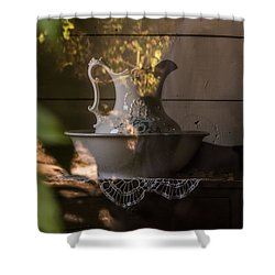 Shower Curtain featuring the photograph Wash Basin by Jay Stockhaus