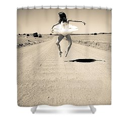 Washboard Ballet Shower Curtain