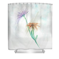 Washing Away Shower Curtain