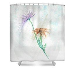 Washing Away Shower Curtain by Judy Hall-Folde