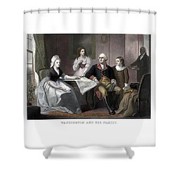 Washington And His Family Shower Curtain by War Is Hell Store