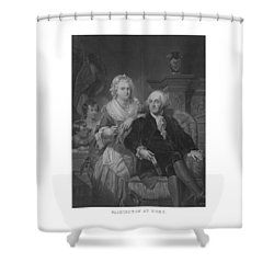 Washington At Home Shower Curtain by War Is Hell Store
