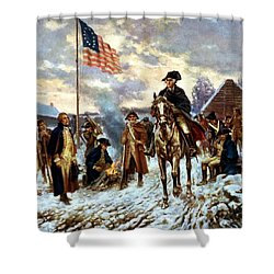Washington At Valley Forge Shower Curtain