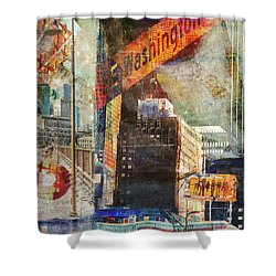 Washington Ave. 2 Shower Curtain