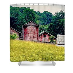 Shower Curtain featuring the photograph Washington County Vignette by Kendall McKernon