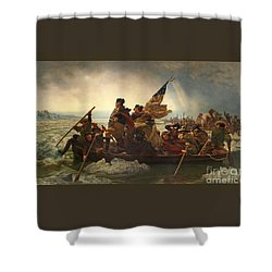 Shower Curtain featuring the photograph Washington Crossing The Delaware by John Stephens