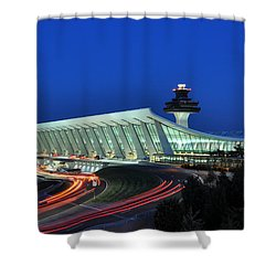 Washington Dulles International Airport At Dusk Shower Curtain