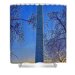Washington Monument Shower Curtain by Dennis Cox WorldViews