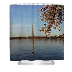 Washington Monument Shower Curtain by Megan Cohen