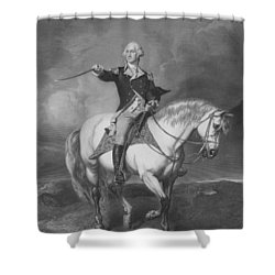 Washington Receiving A Salute At Trenton Shower Curtain by War Is Hell Store