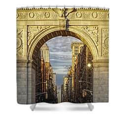 Washington Square Golden Arch Shower Curtain by Jeffrey Friedkin