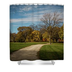Shower Curtain featuring the photograph Washington Walkway by Kimberly Mackowski