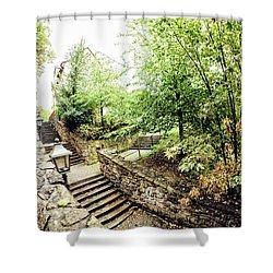 Wassertreppe Shower Curtain