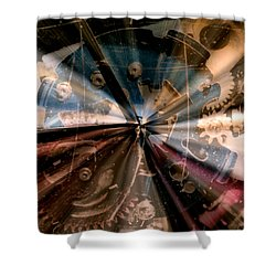 Wasted Time Shower Curtain