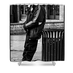 Wasting Away Shower Curtain by David Patterson