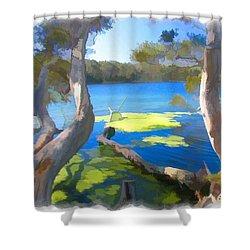 Wat-0002 Avoca Estuary Shower Curtain