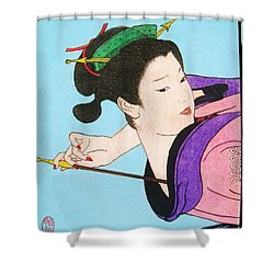 Watashi No Senaka O Kaite Shower Curtain by Roberto Prusso