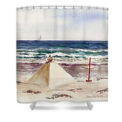 Watch Hill Ri Sand Sculpture Shower Curtain