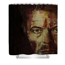 Watch That Man Bowie Shower Curtain by Paul Lovering