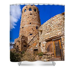 Shower Curtain featuring the photograph Watch Tower by Jerry Cahill