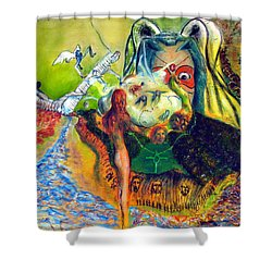 Watcher Of The Skies Shower Curtain by Albert Puskaric