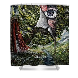Watchers  Shower Curtain