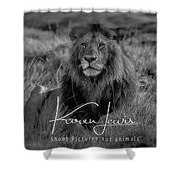Shower Curtain featuring the photograph Watching And Waiting by Karen Lewis