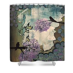 Watching For Spring Shower Curtain