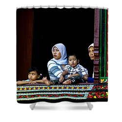 Watching From A Window Shower Curtain by Charuhas Images