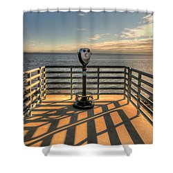 Watching Over The Bay Shower Curtain by Gary Slawsky