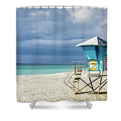 Lifeguard Tower Florida Gulf Coast Shower Curtain