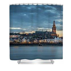 Watching The City Lights, Nijmegen Shower Curtain