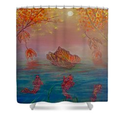 Watching The Dance Of The Fallen Elements Shower Curtain