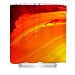 Watching The Lava Flow Shower Curtain by Erik Aeder - Printscapes