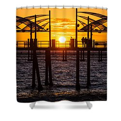 Watching The Sunset Shower Curtain by Ed Clark