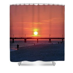 Watching The Sunset Shower Curtain by Sandy Keeton