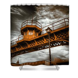 All Along The Watchtower Shower Curtain by Wayne Sherriff