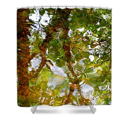 Water Abstract 17 Shower Curtain by Joanne Baldaia - Printscapes