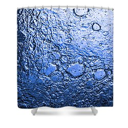Water Abstraction - Blue Rain Shower Curtain by Alex Potemkin