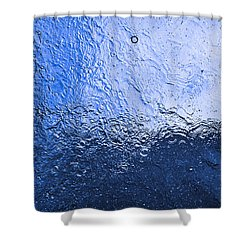 Water Abstraction - Blue Reflection Shower Curtain by Alex Potemkin