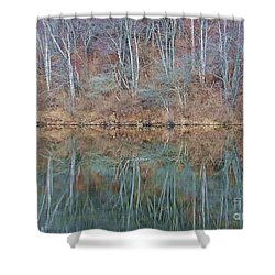Shower Curtain featuring the photograph Water And Lace by Christian Mattison