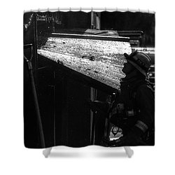 Water And Soot Shower Curtain