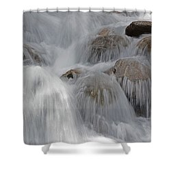 Water And Stone- Dance Of The Elements Shower Curtain